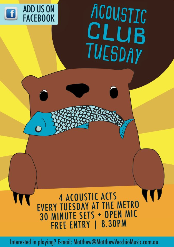 Acoustic Club Tuesday @ The Metro